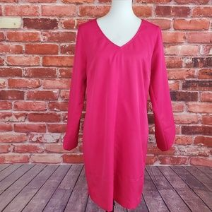 Shift Dress Tulip Sleeve Laundry Shelli Segal Pink